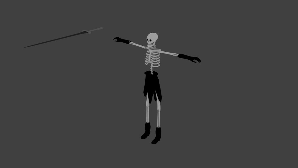 3D model skeleton animations