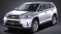 3D toyota highlander 2017 model