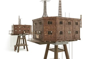 3D model maunsell forts