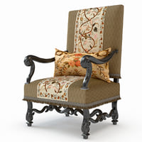 18th century armchair 3D