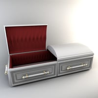 casket coffin model