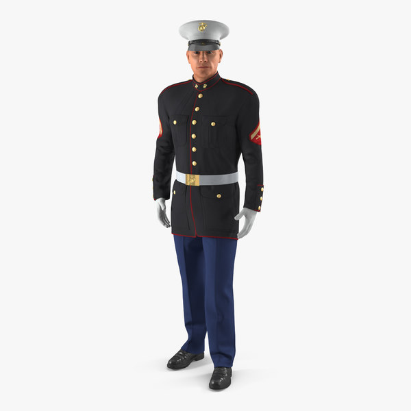 marine corps soldier parade 3D model