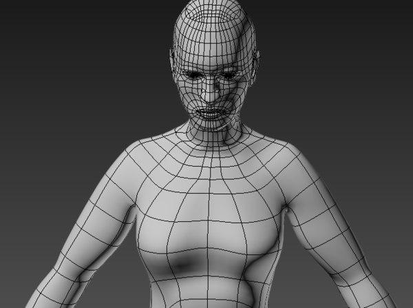 base mesh human body 3D model