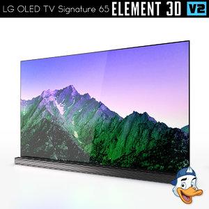 lg oled tv signature 3D model