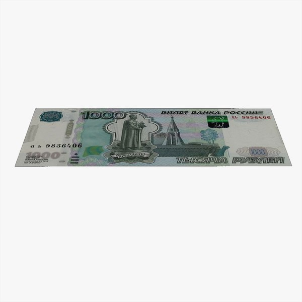 1000 roubles russian banknote 3D