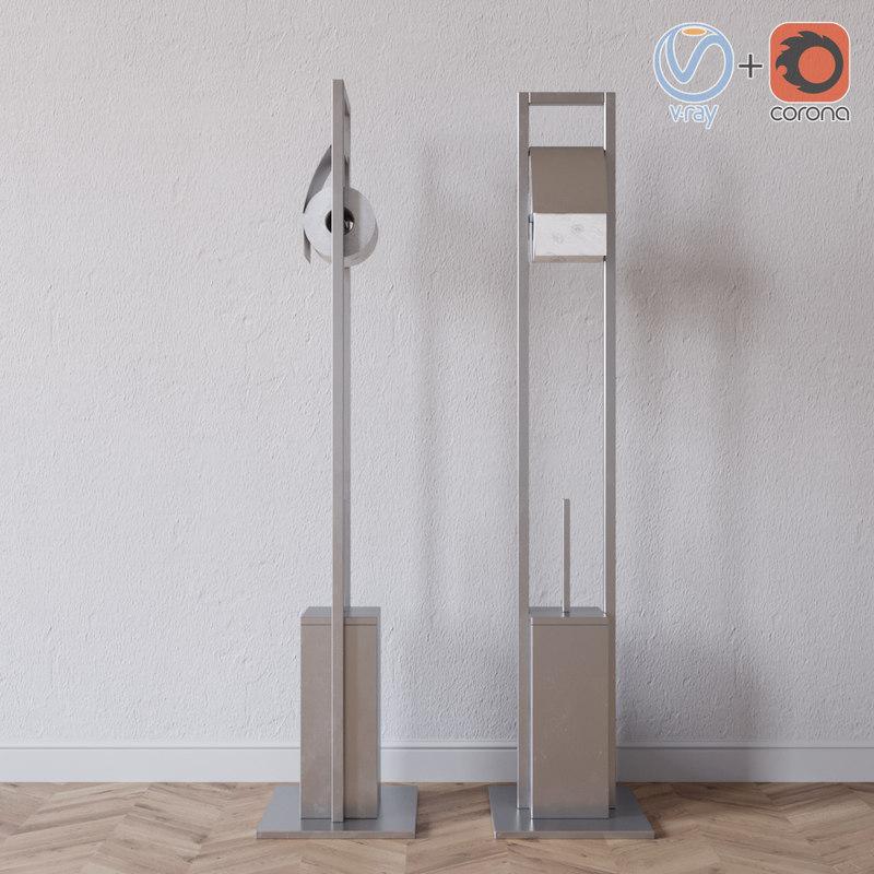 3D brush paper toilet model