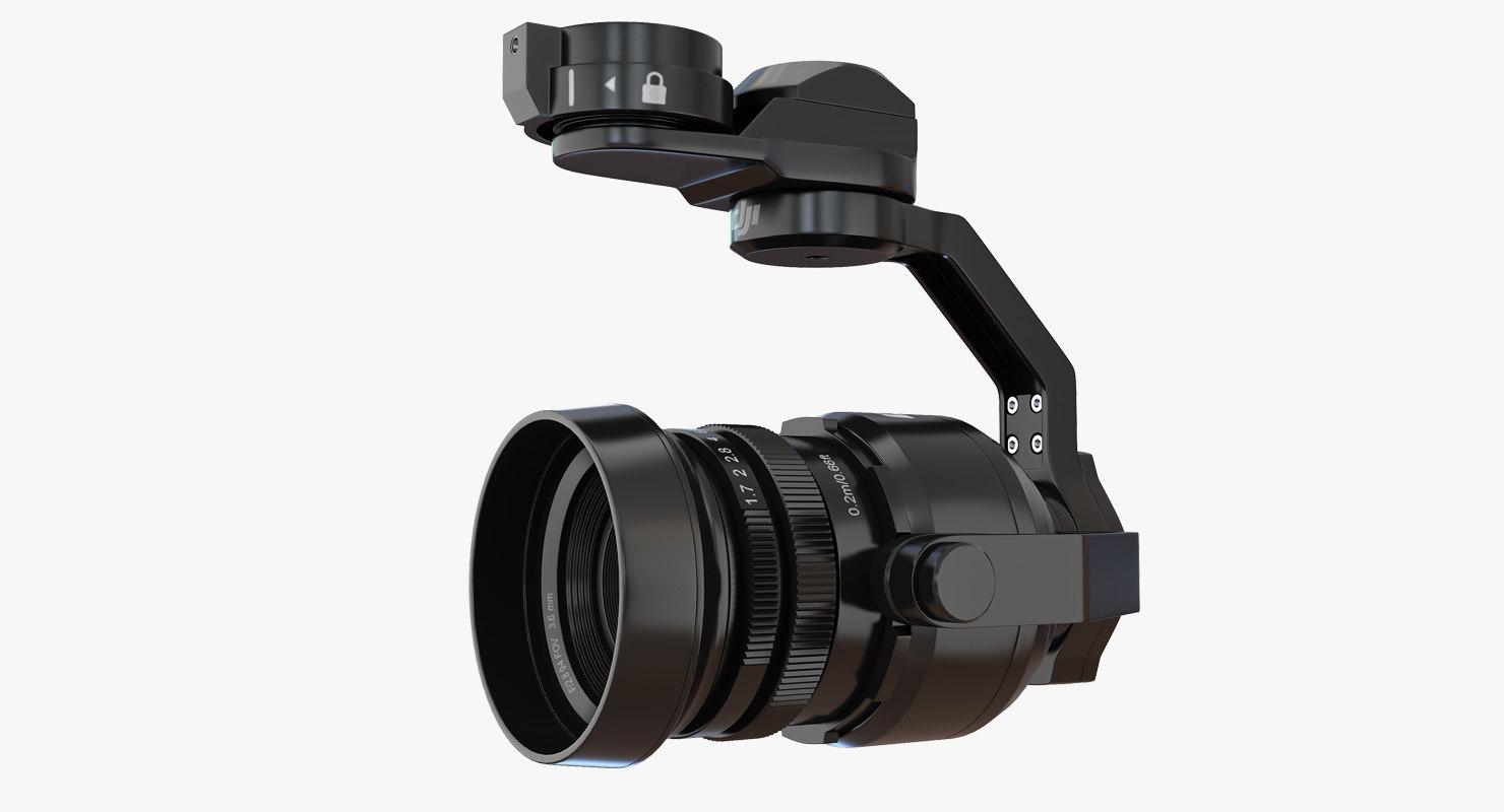3D model dji inspire 1 camera