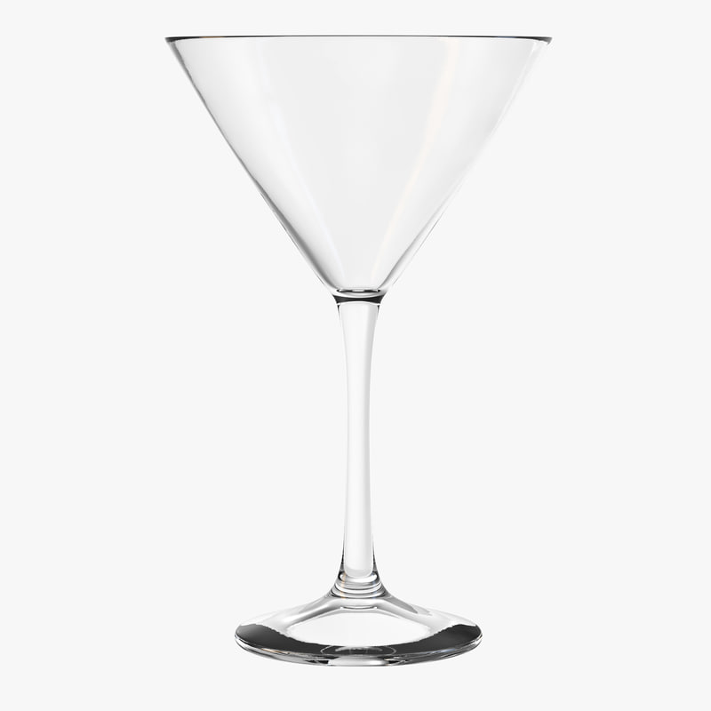 3D cocktail glass martini