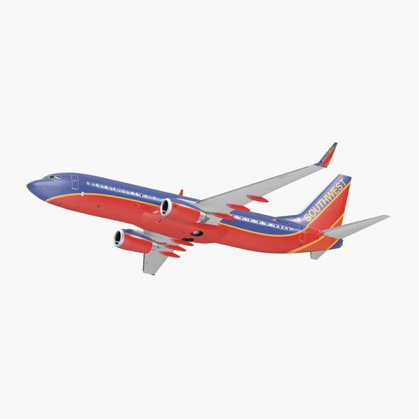 3D model boeing 737-800 interior southwest