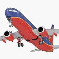 boeing 737-800 interior southwest 3D