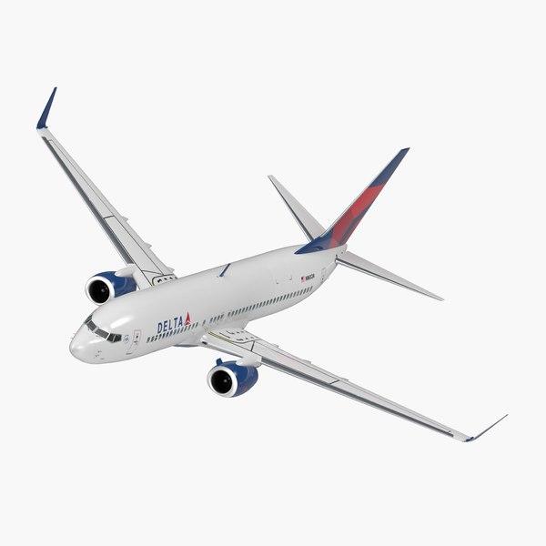 3D boeing 737-800 interior delta