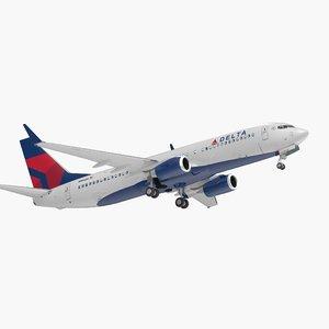 3D boeing 737-800 interior delta model