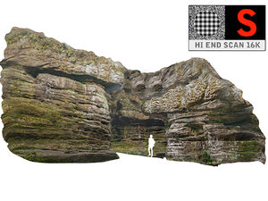 3D forest rock cliff 16k model