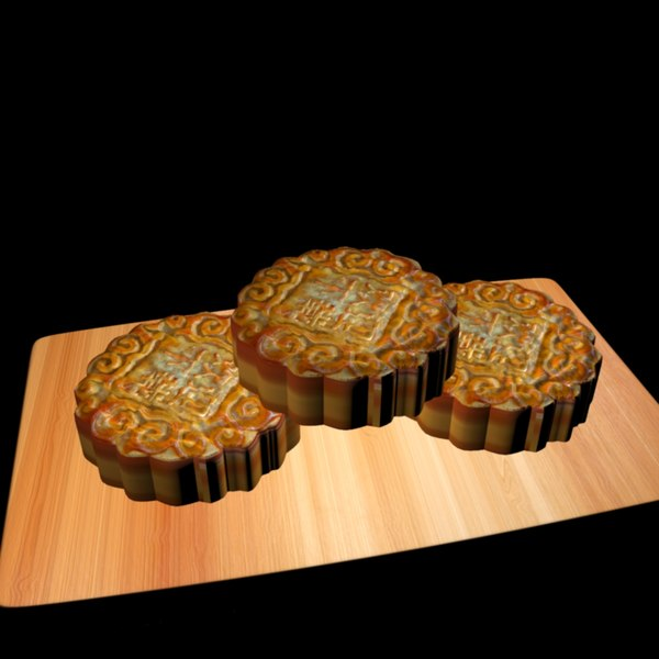 chinese moon cake 3D