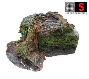 roots stone 8k 3D model