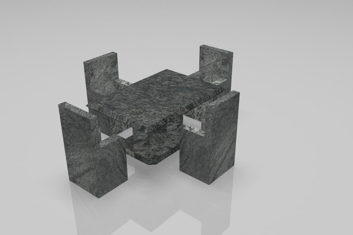 dwarf chair table 3D