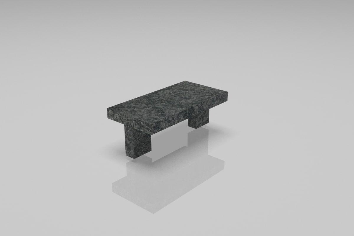 dwarf bench 3D model
