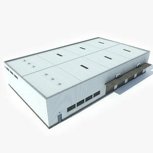 3D industrial building warehouse 2