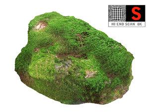 3D model moss rock 8k