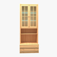 3D model cupboard alder