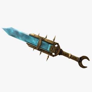 3D keening dagger