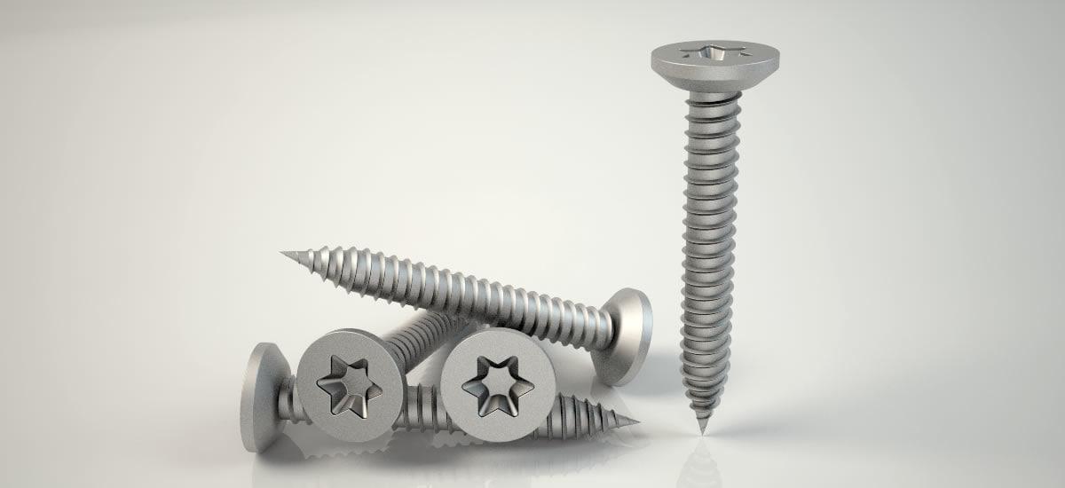 screw buldeks vida clear 3D model