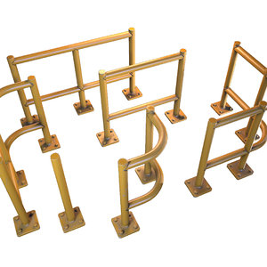 3D model warehouse fence set -