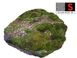 moss rock 8k 3D model