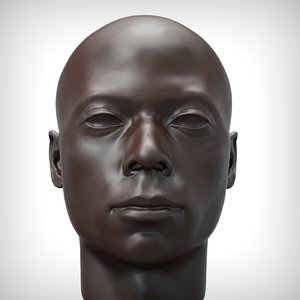 black man head model