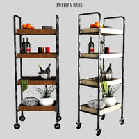 3D model pottery barn castelo kitchen unit