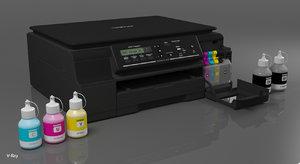 3D computer multifuncion printer brother