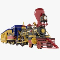 Cartoon Amusement Park Train