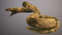 3D snake statue model