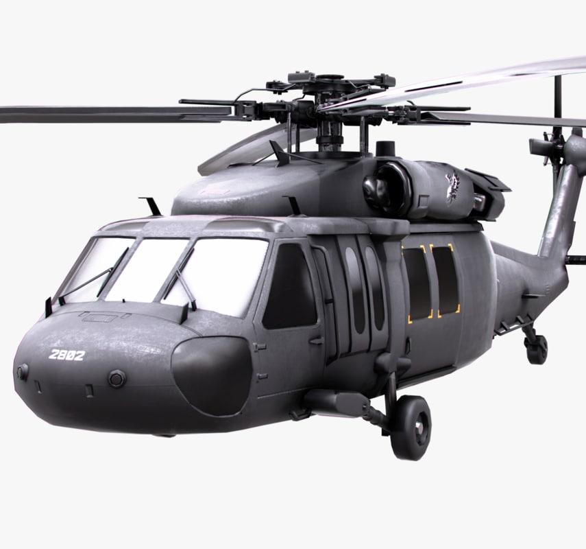 3D blackhawk uh60 uh