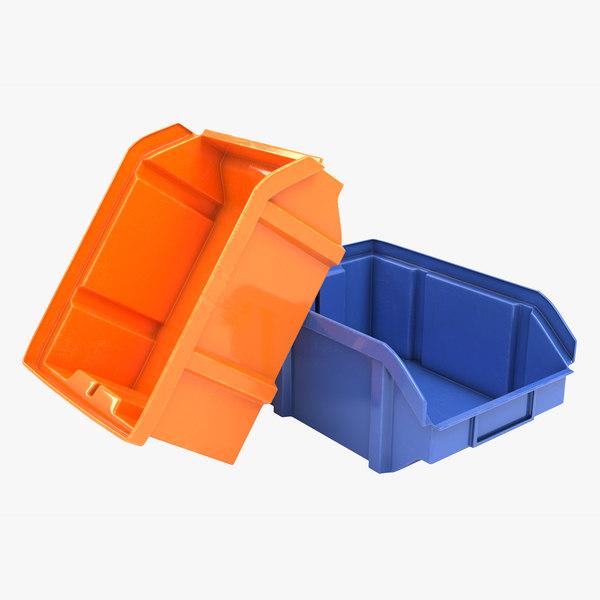 3D plastic storage bin