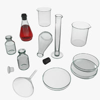 lab laboratory equipment 3D model