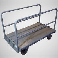 Warehouse Push Cart - Game ready prop