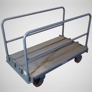 warehouse push cart - 3D model