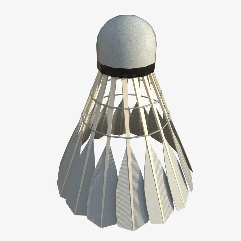 3D shuttlecock badminton