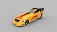NHRA DHL Funny Car Dragster (lowpoly)