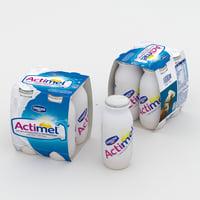 3D actimel model