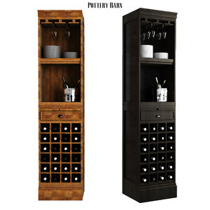 3D model modular bar wine grid
