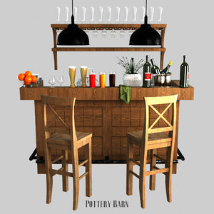 rustic ultimate bar - 3D model