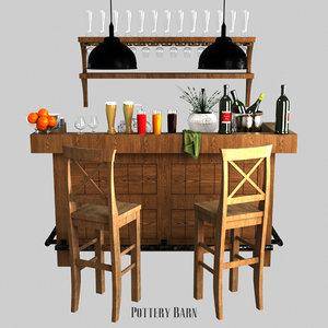 rustic ultimate bar - 3D model
