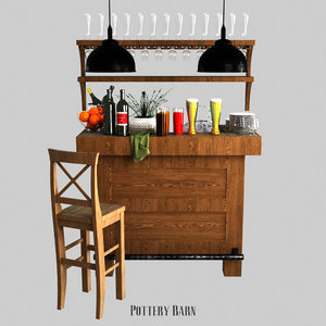 3D rustic ultimate bar - model