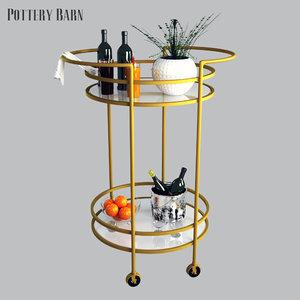 tristan bar cart 3D