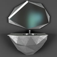 3D model modern bathroom sink