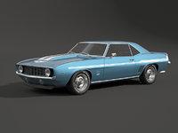 3D 1969 camaro z28 model