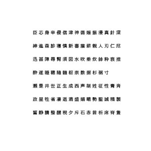 chinese meiryo font set11 3D