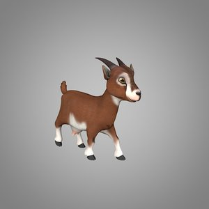 3D goat goatling